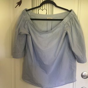 Halogen off shoulder blouse